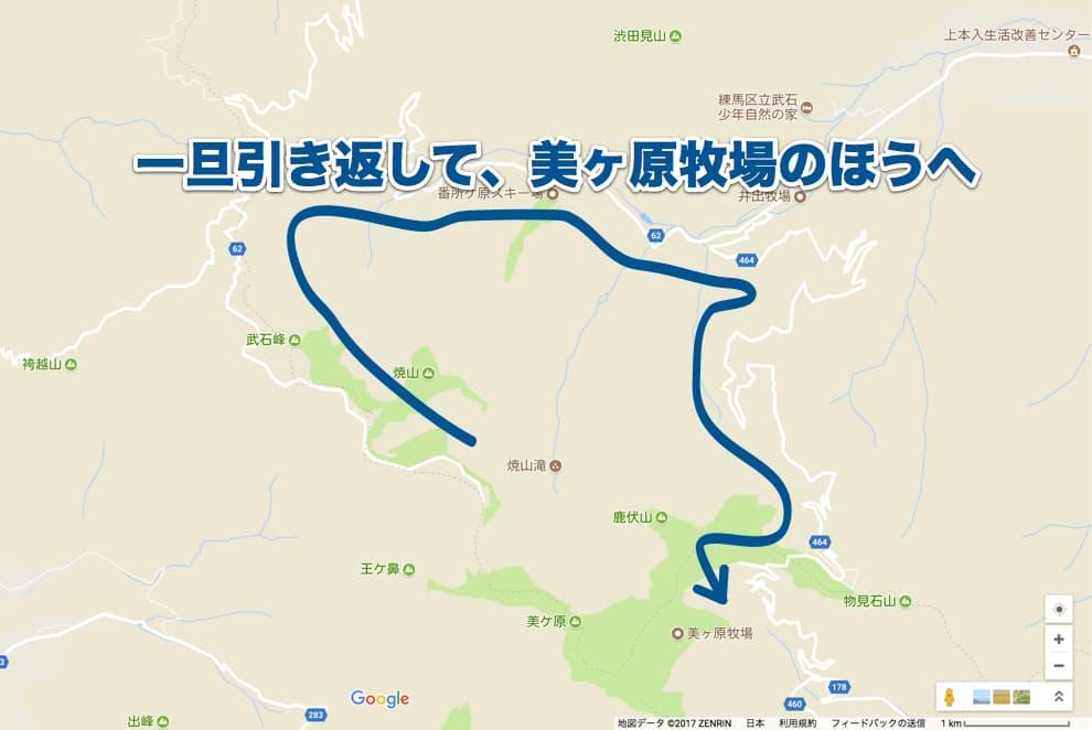 美ヶ原周辺の地図