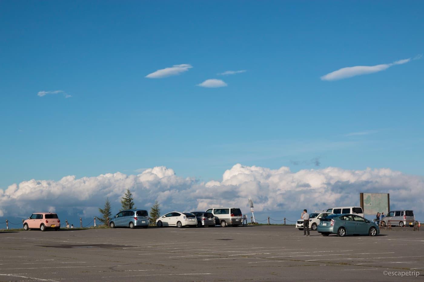 美ヶ原高原美術館の駐車場