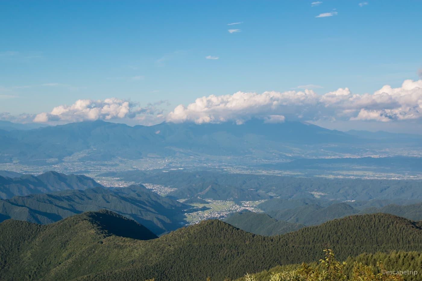 美ヶ原高原美術館からの景色