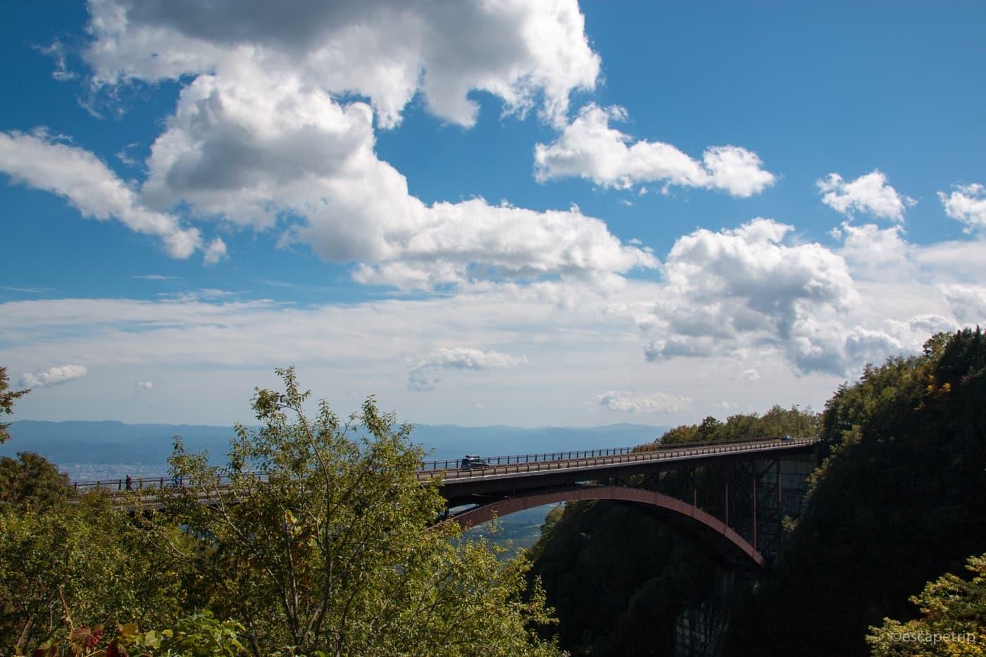 不動沢橋を横から見たところ