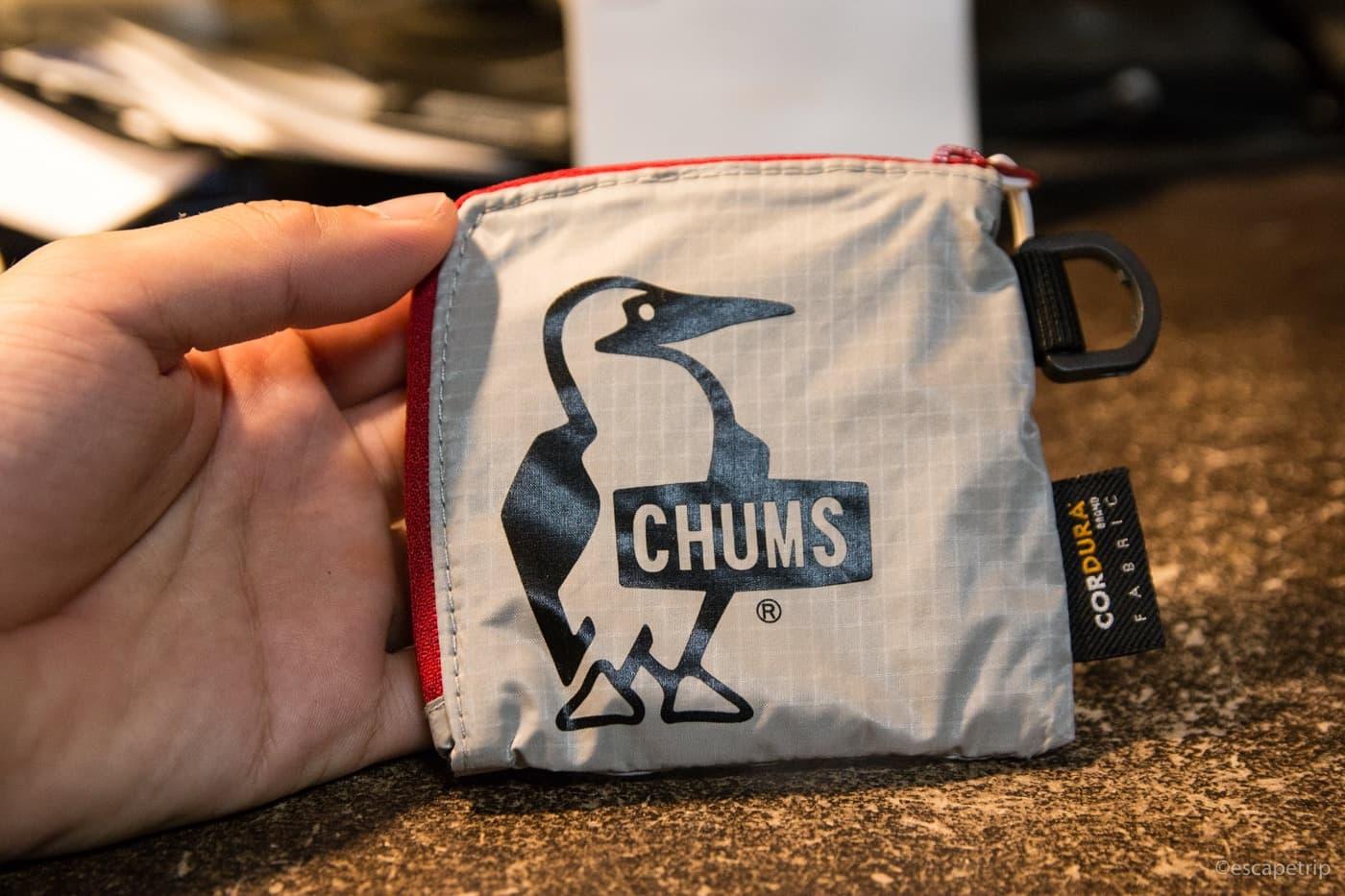 チャムスの小型財布「Trek Wallet」