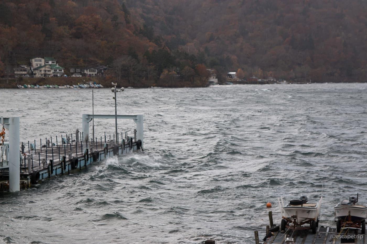 中禅寺湖の湖面