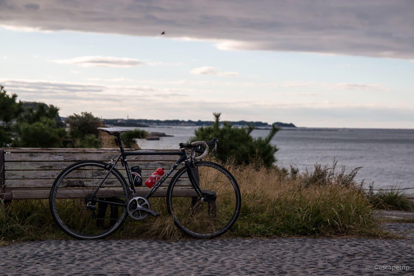 三浦半島の立石公園とロードバイク