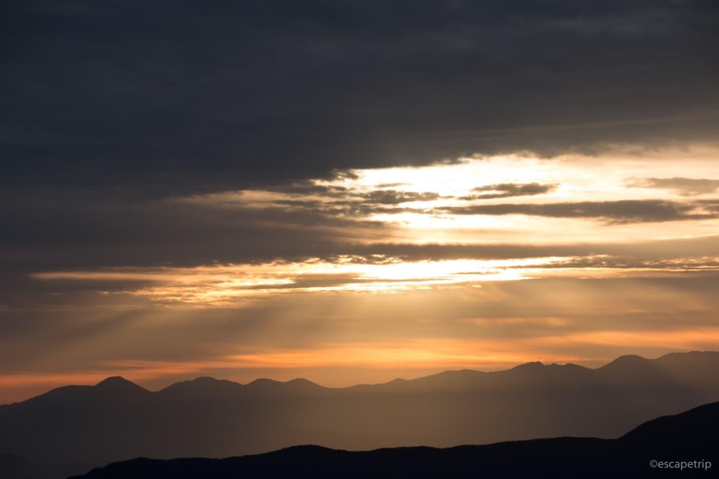 乗鞍岳から見る朝焼け