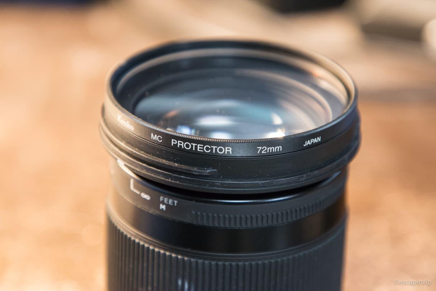 シグマ18-300mmのフィルター経は72mm
