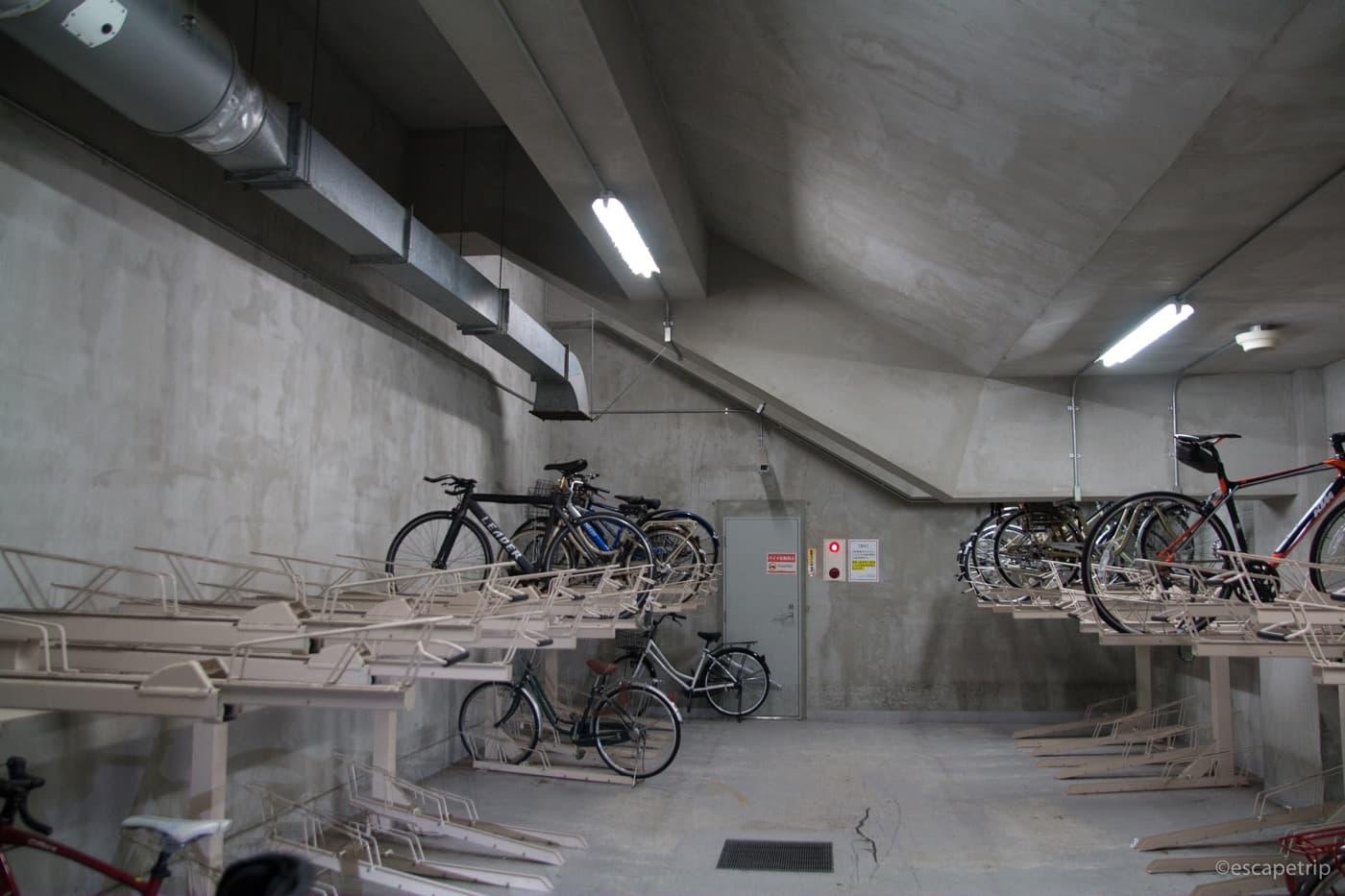 みなとみらいスタバの駐輪場