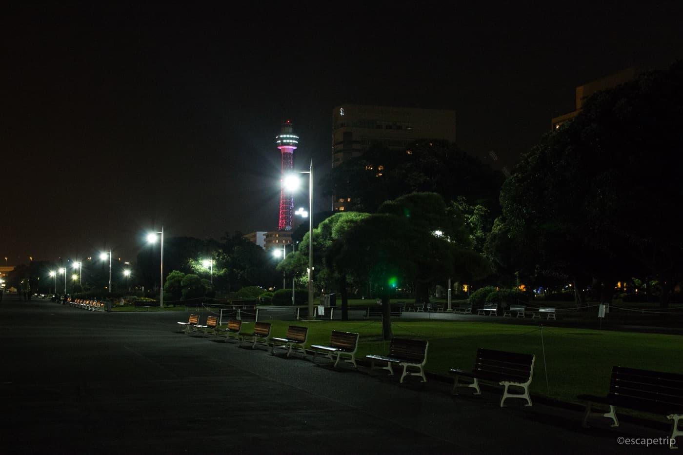 夜の山下公園