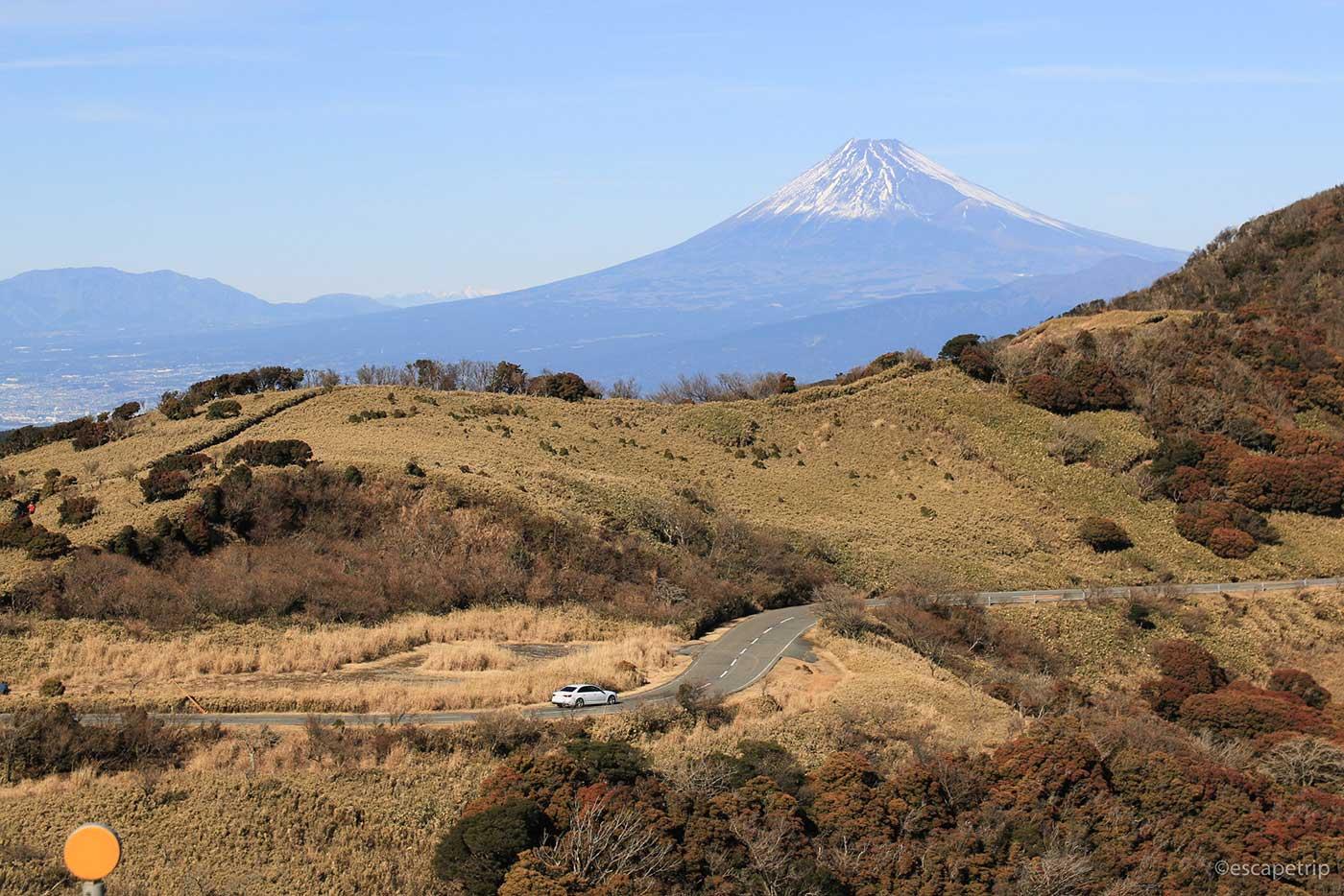 西伊豆スカイラインと富士山