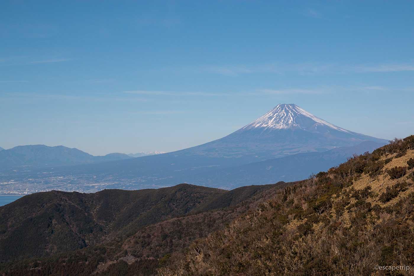西伊豆スカイラインから見る富士山