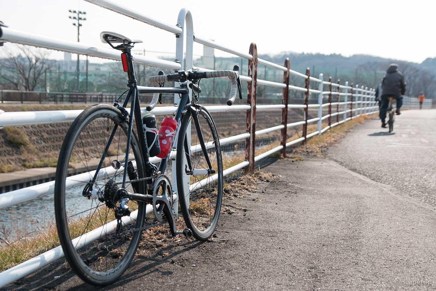 境川サイクリングロードとロードバイク