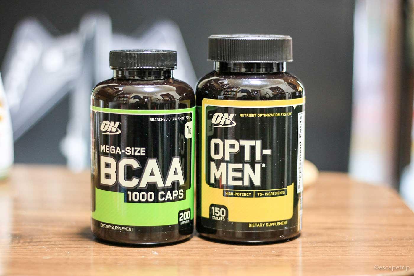 オプティメンのマルチビタミン剤とBCAA
