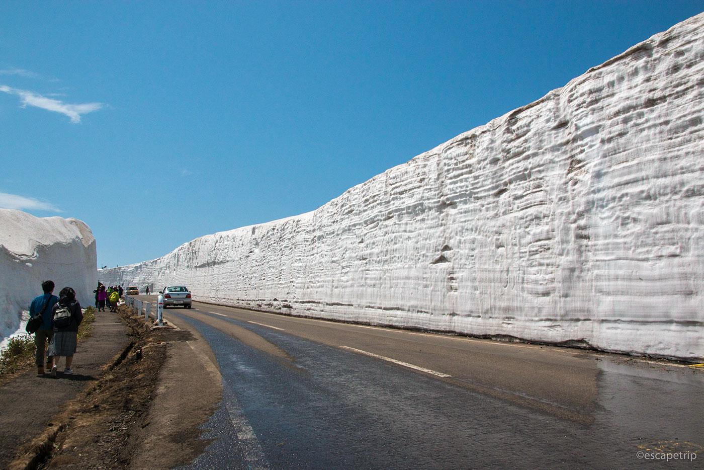 雪の回廊を快走