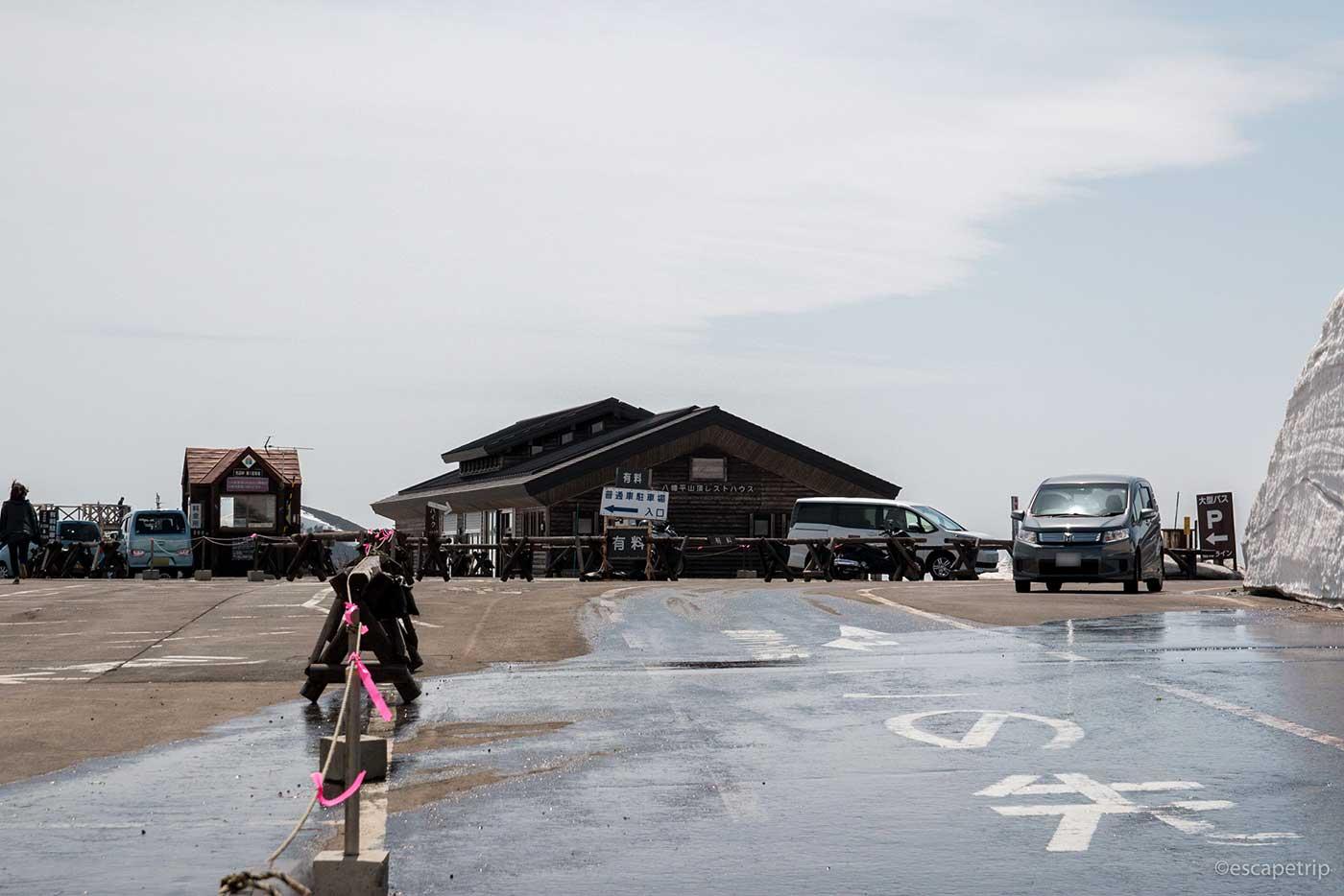 八幡平アスピーテラインの駐車場