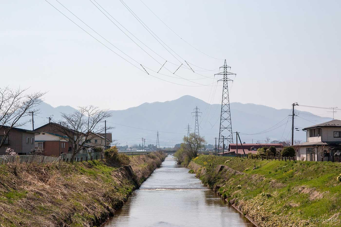 岩手県の田舎の風景