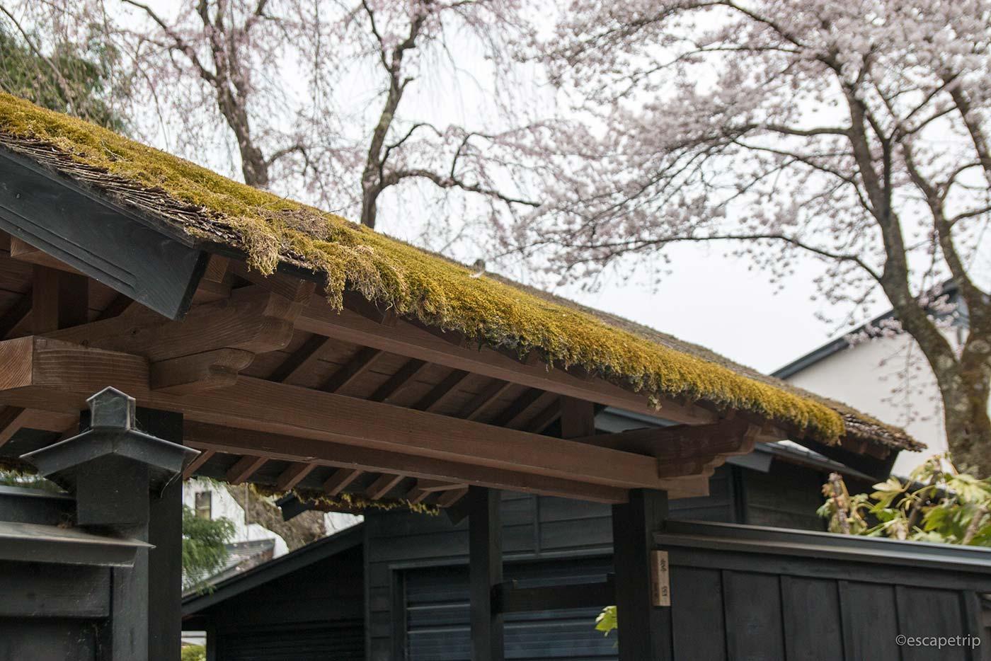 角館の屋根