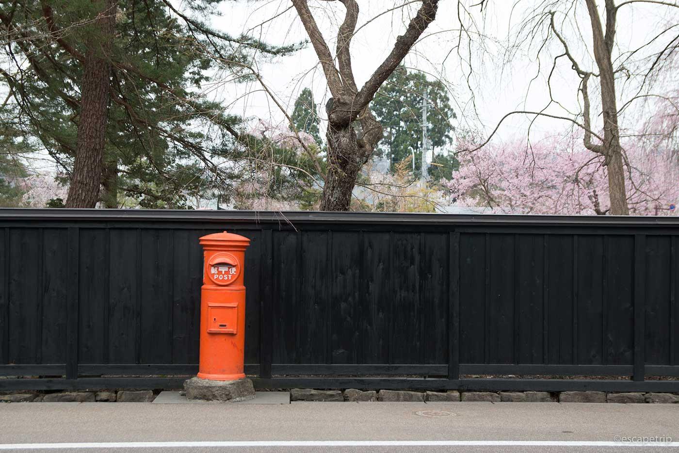 角館の郵便ポスト