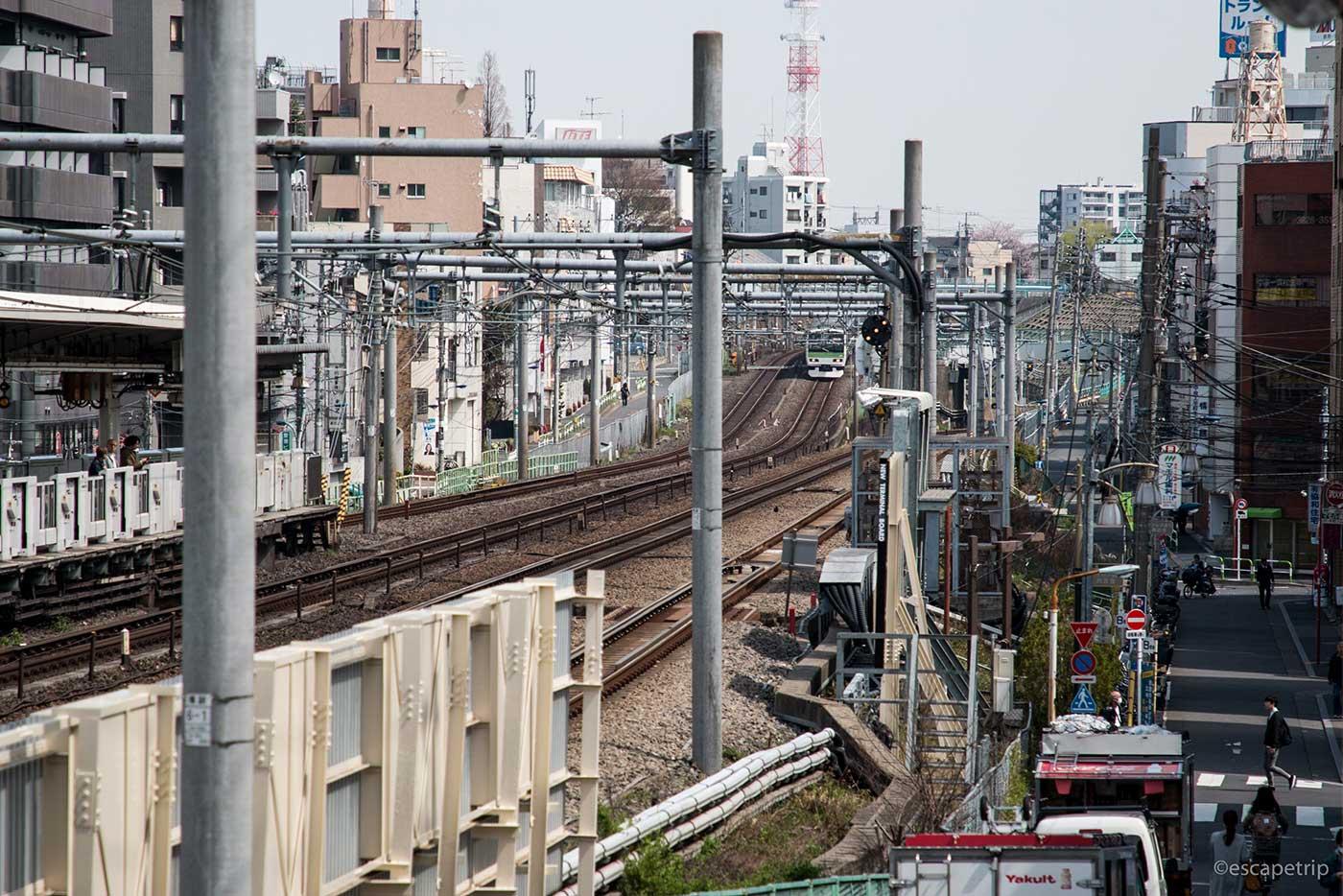 駒込駅の線路