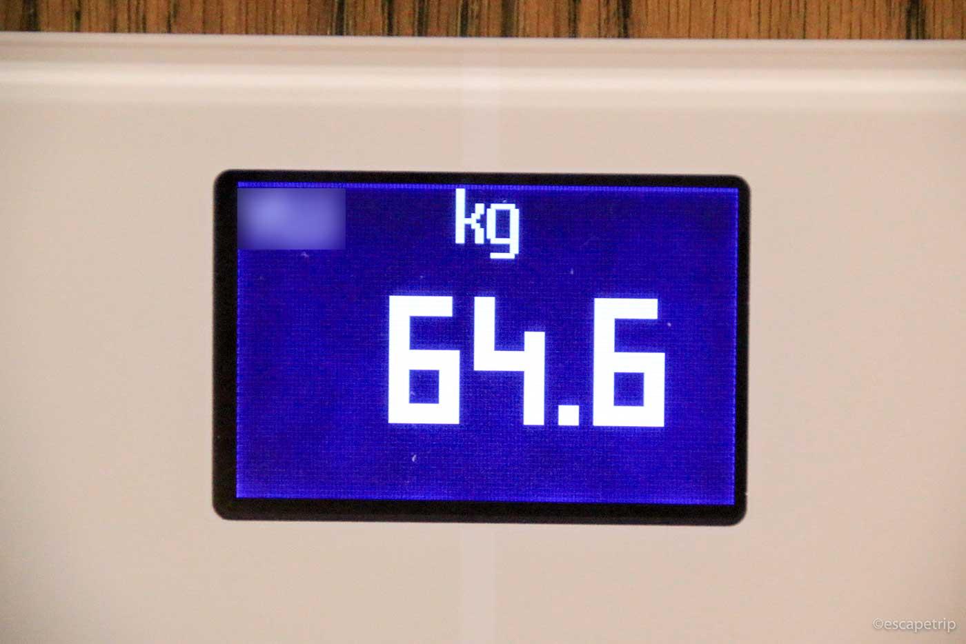スマート体重計の体重表示