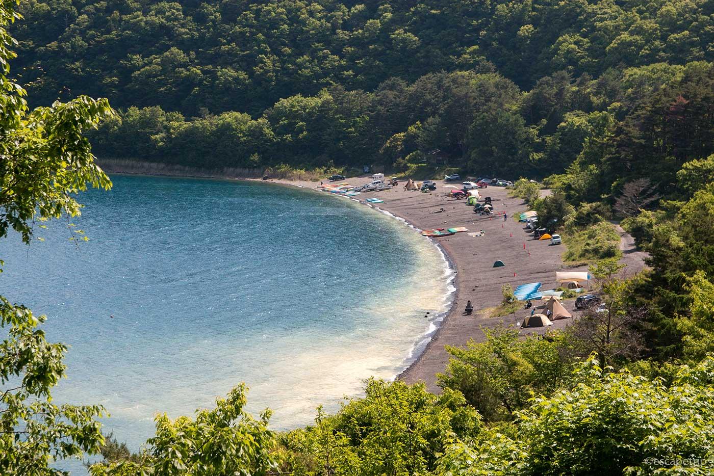 本栖湖のキャンプ場