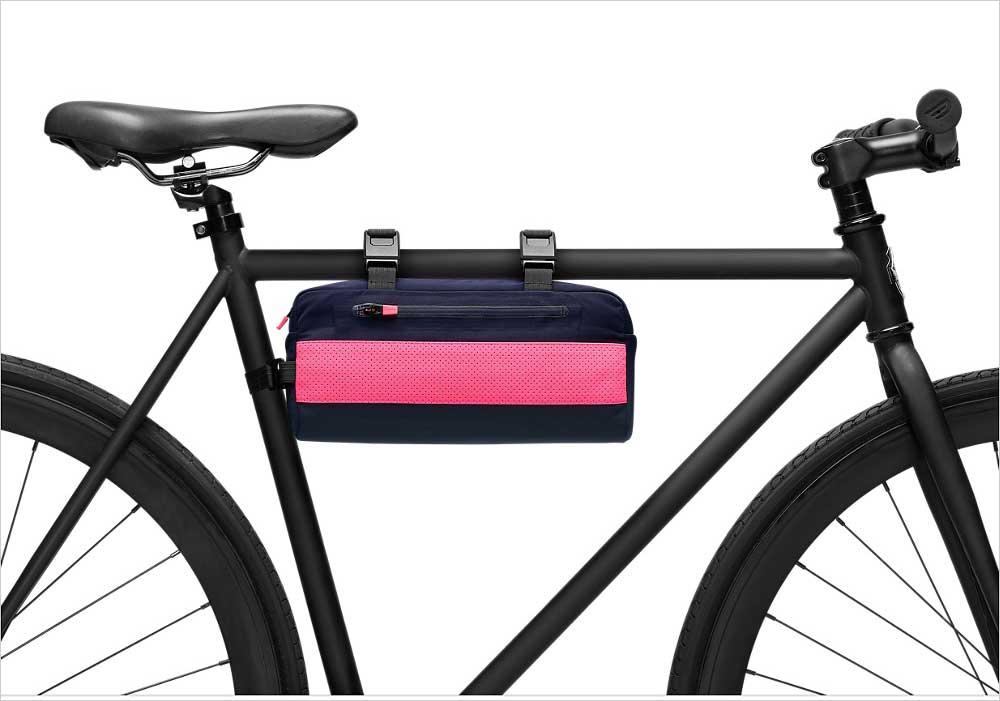 ラファのミニメッセンジャーバッグを自転車へ