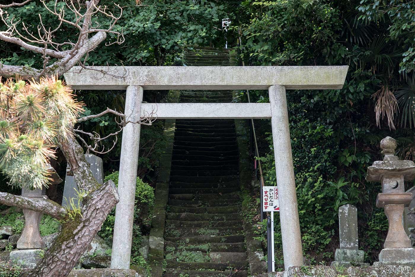 鎌倉の鳥居と階段