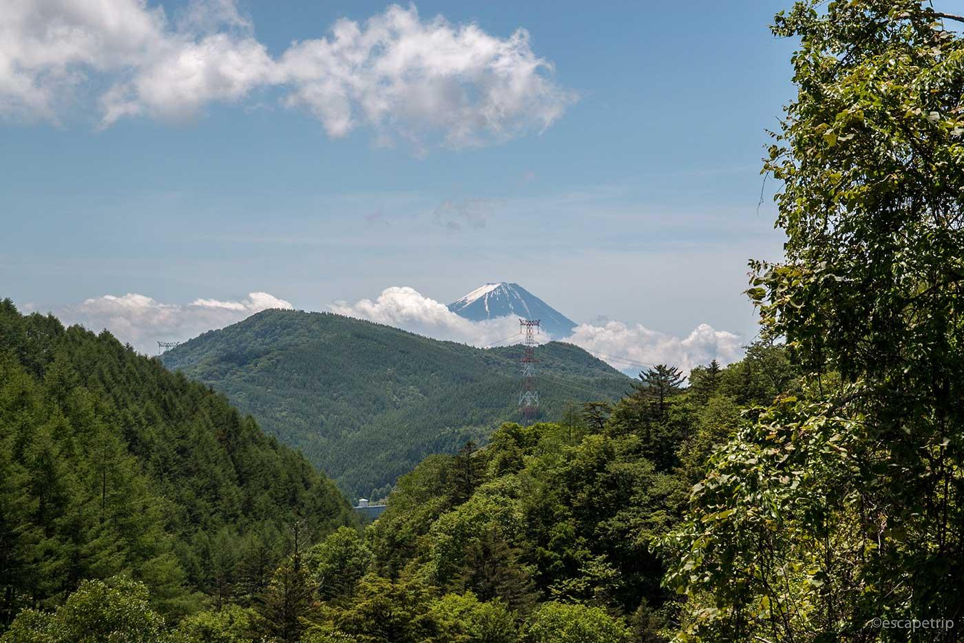 大弛峠方面から見る富士山