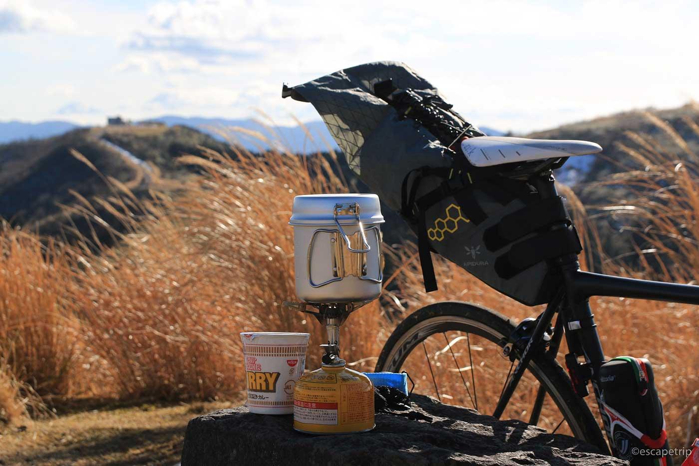 自転車とラーメンセット