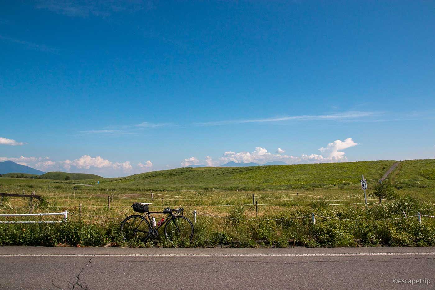 霧ヶ峰高原とロードバイク