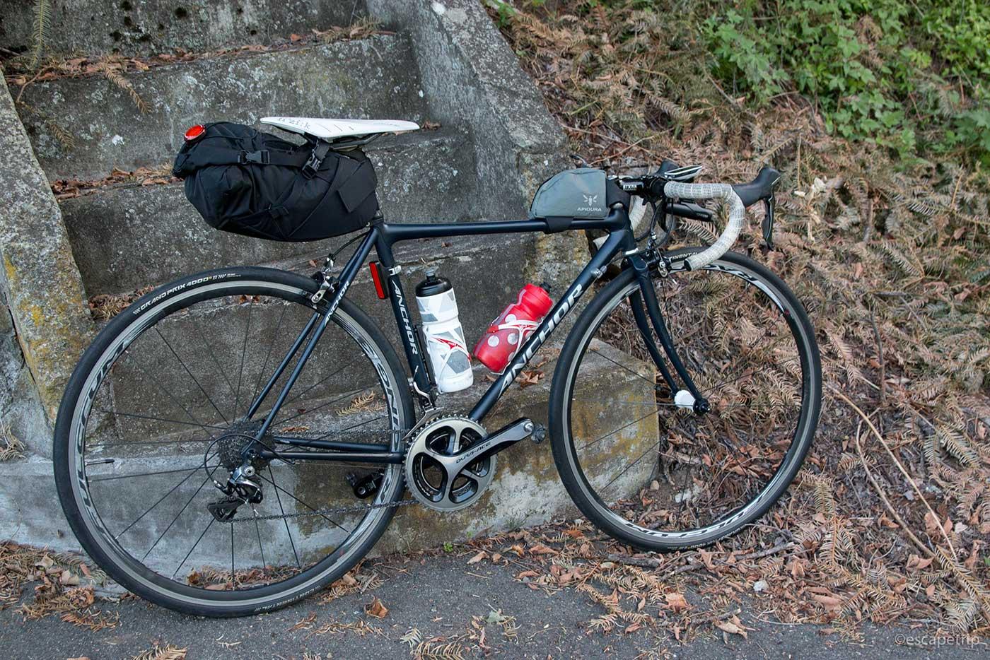 霧ヶ峰高原ライドの自転車
