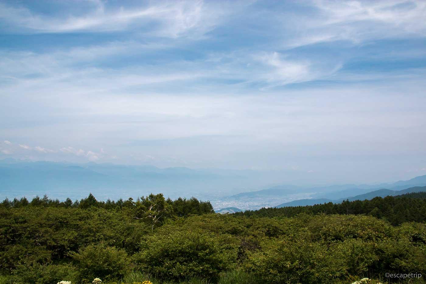 高ボッチ高原からの景色