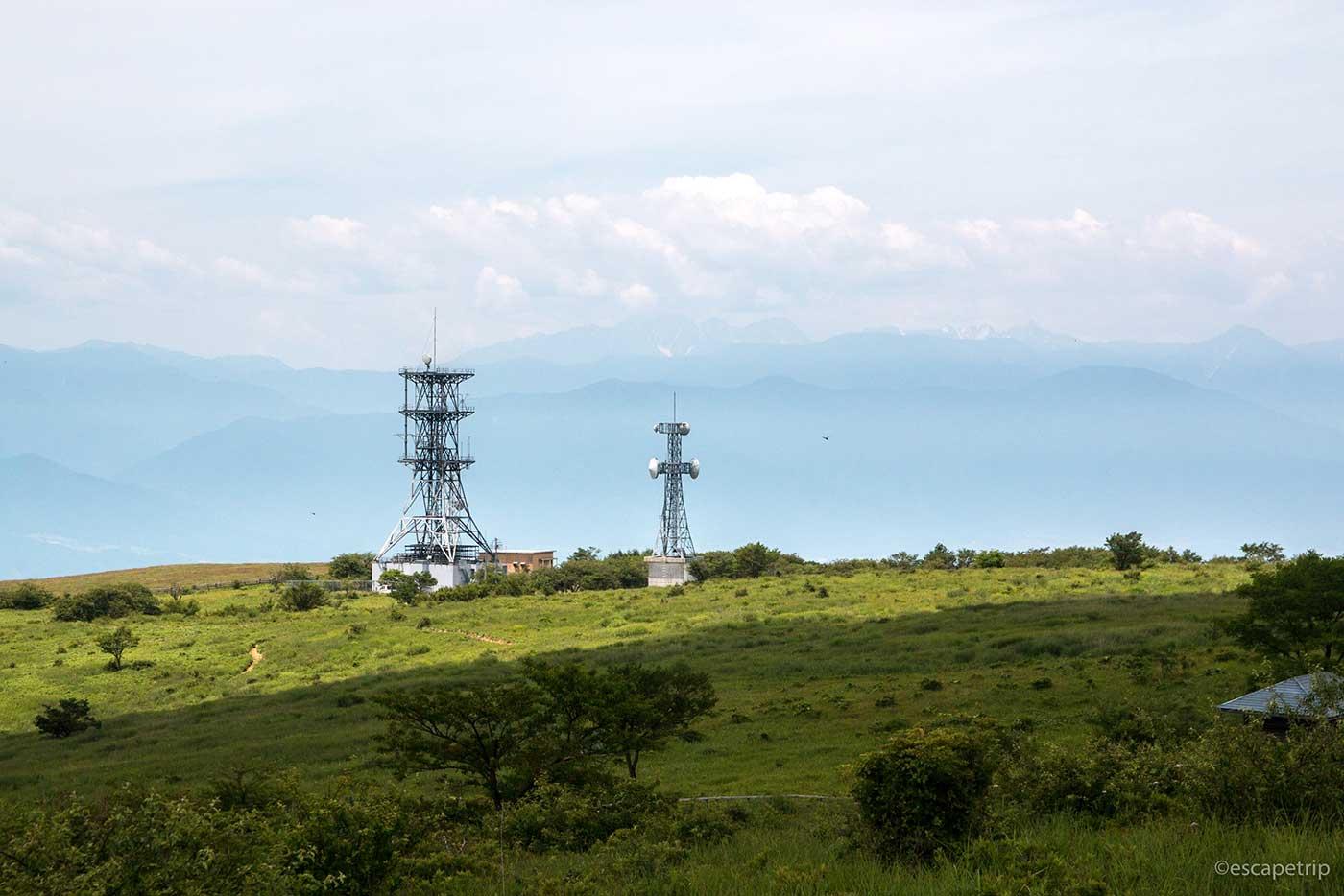 高ボッチ高原の電波塔