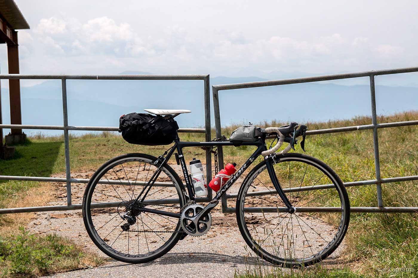 高ボッチ高原ライドの自転車