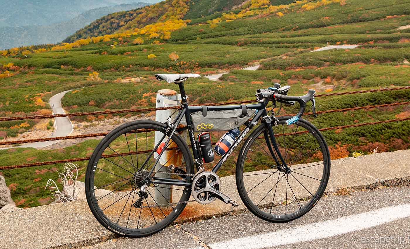 ankerのクロモリロードバイク