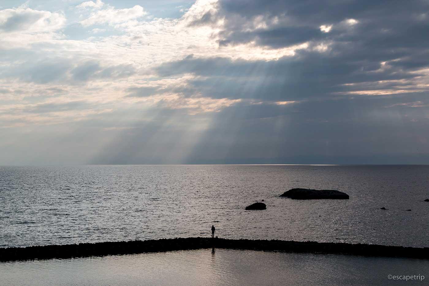 夕暮れの相模湾