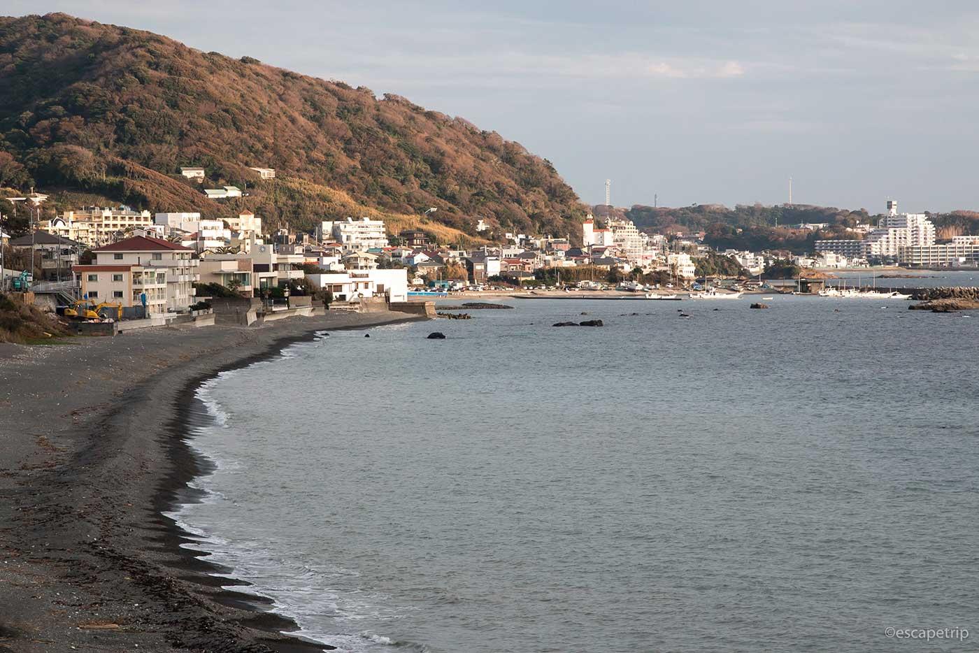 三浦半島の海岸沿い