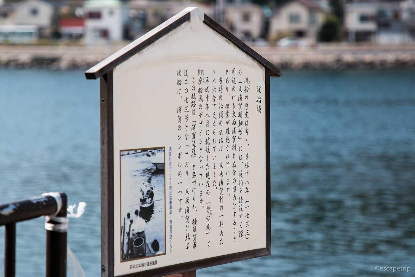 浦賀の渡しの看板