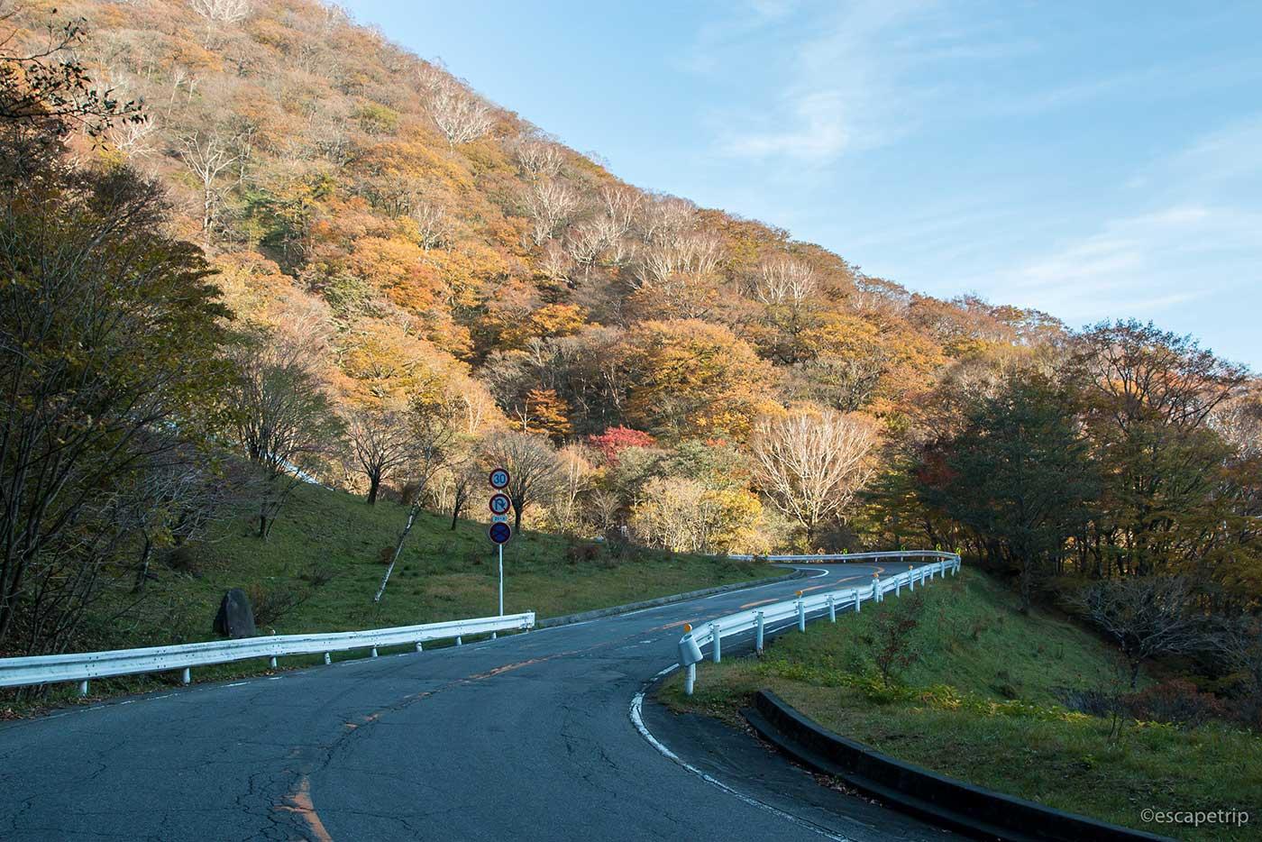 赤城山へ登る道