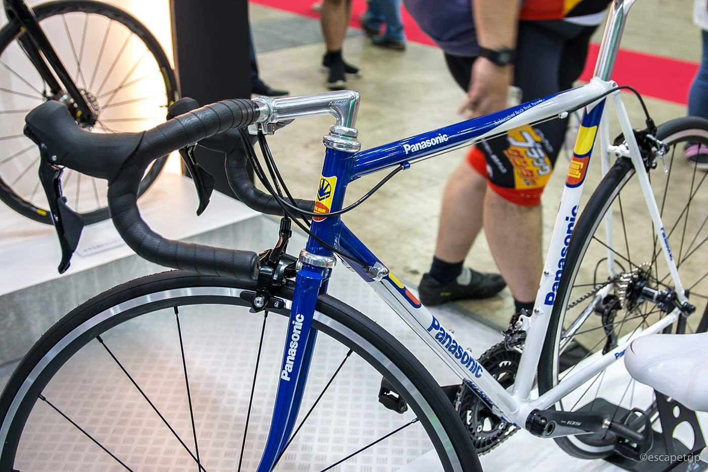 Panasonicのクロモリ自転車
