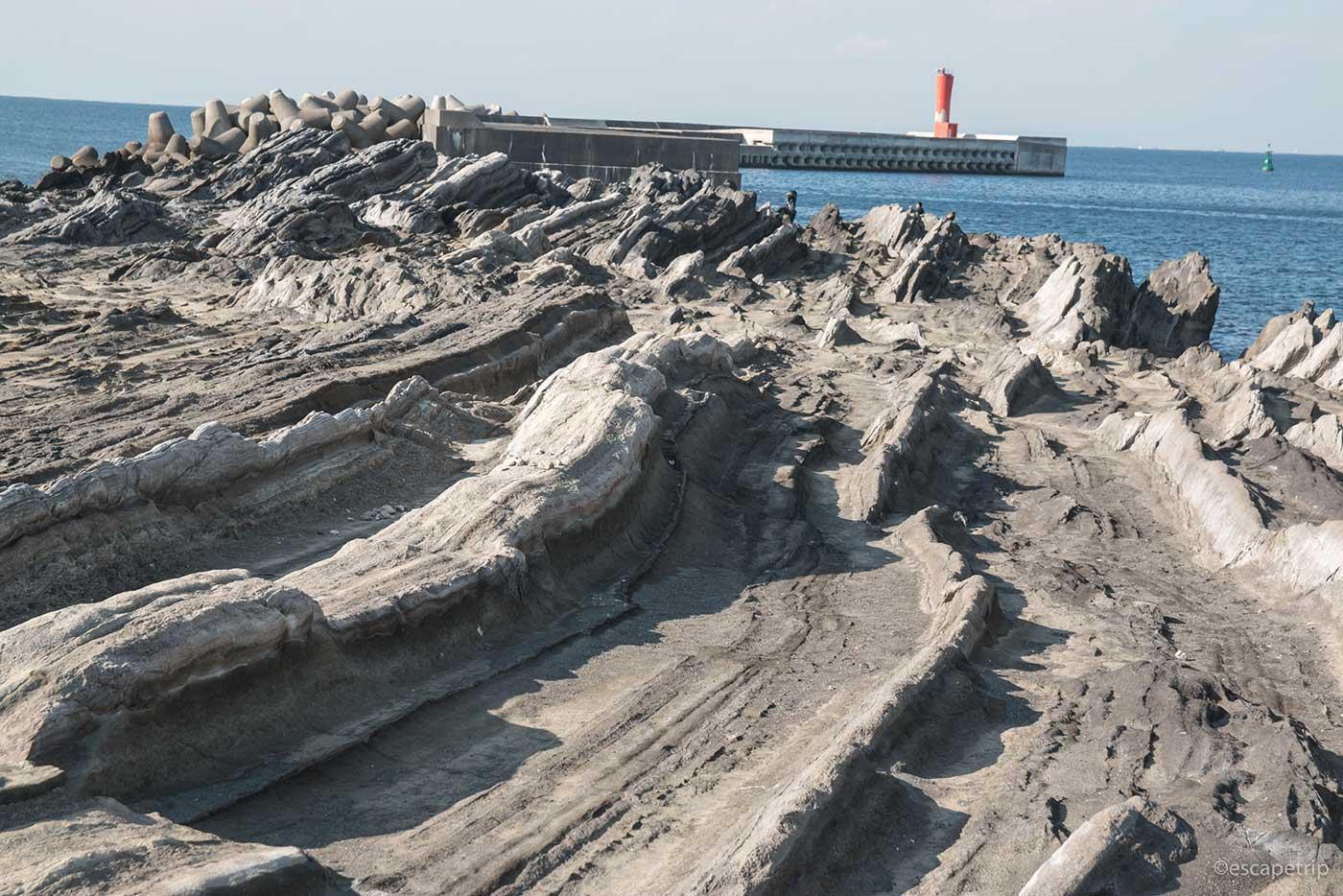 城ヶ島のリアス式海岸