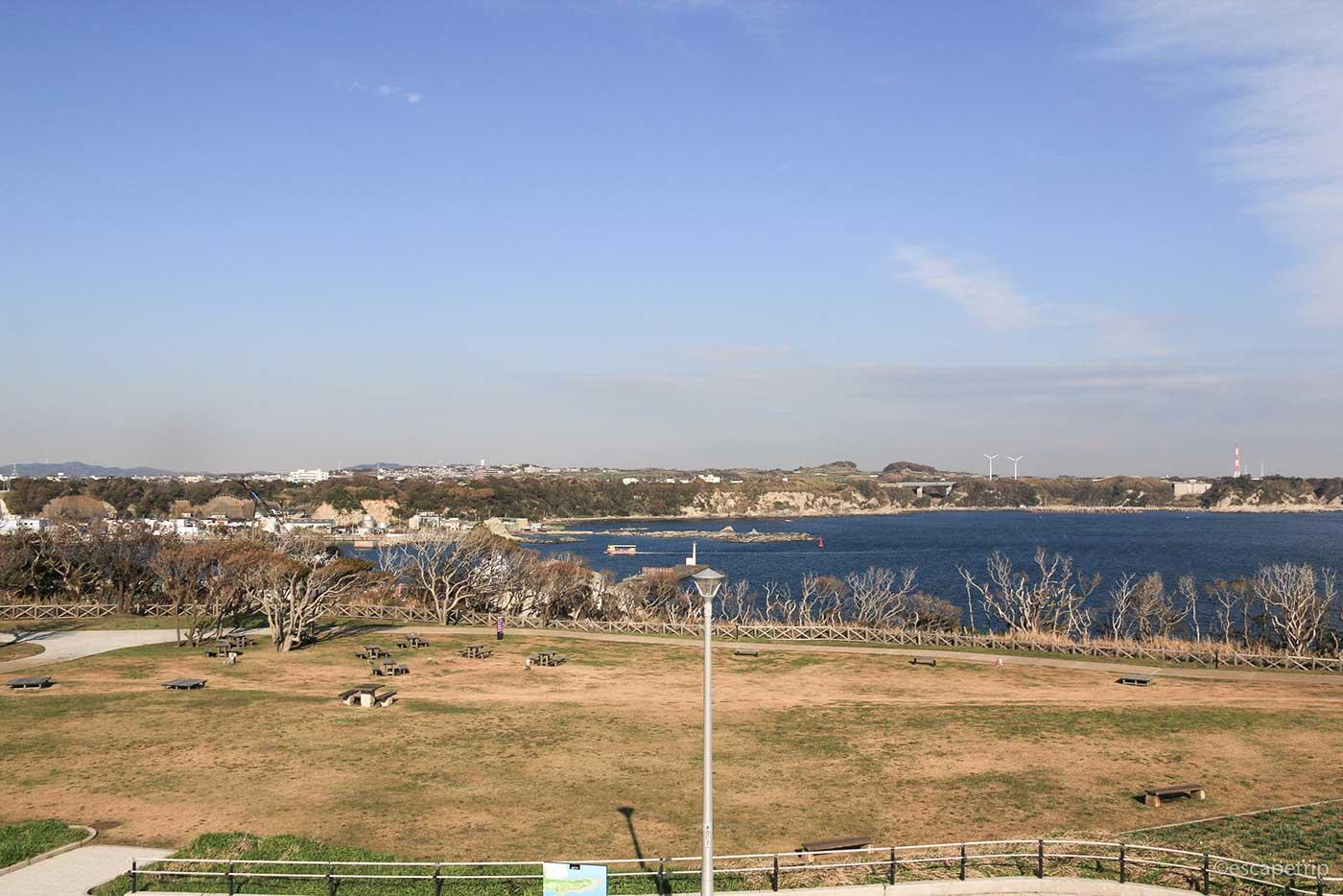 城ヶ島公園の展望台からの景色