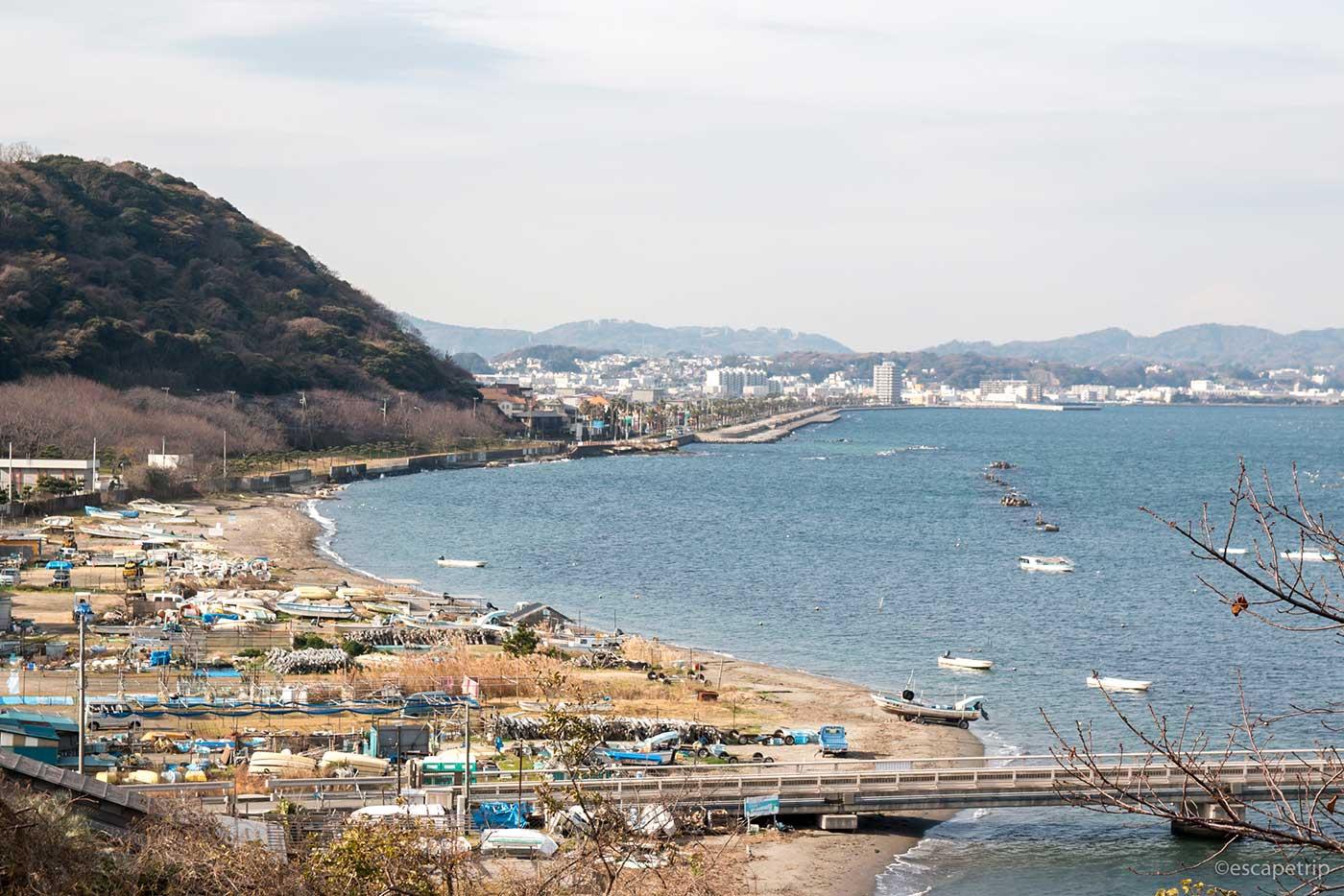 横須賀の冬の海