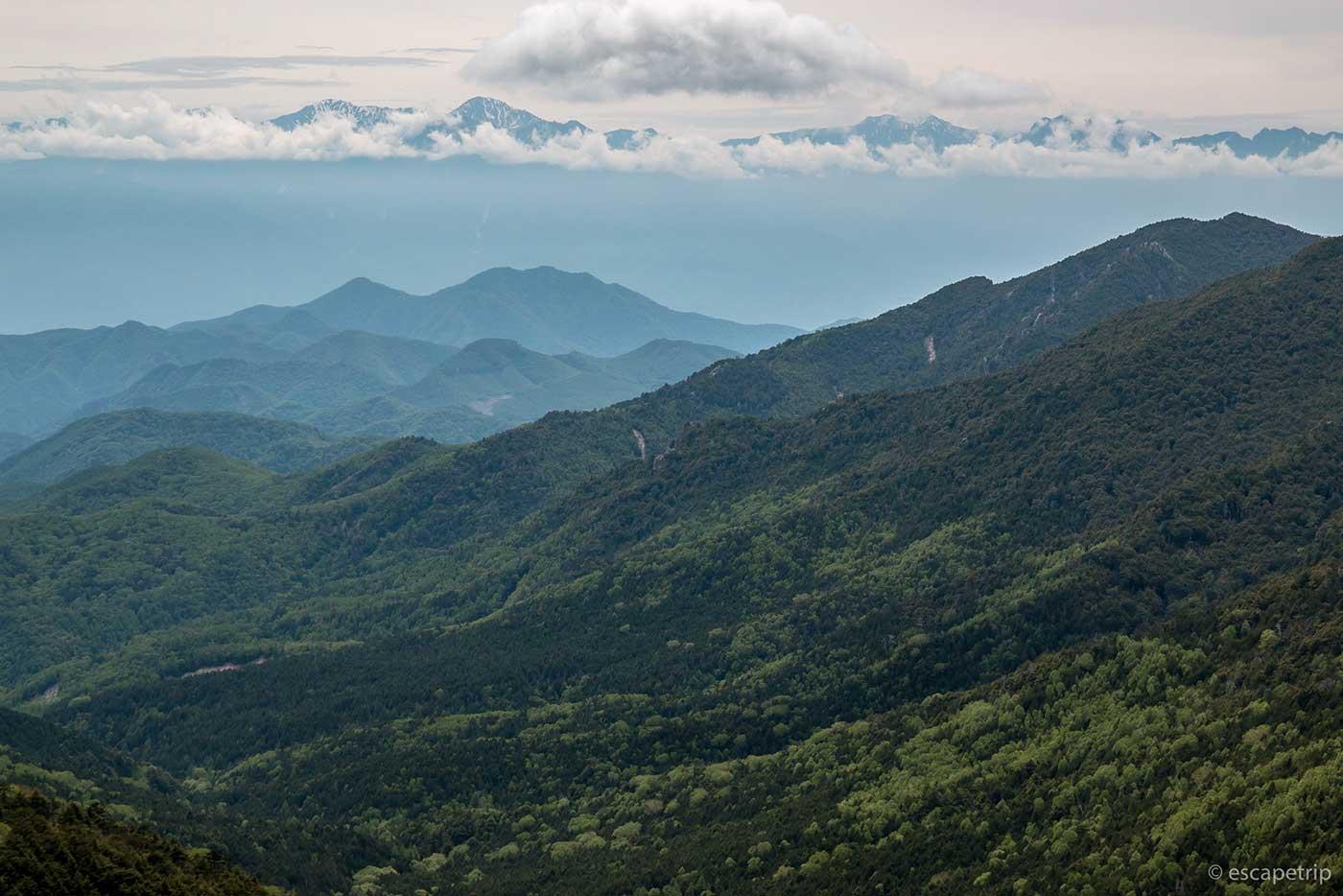 大弛峠の景色