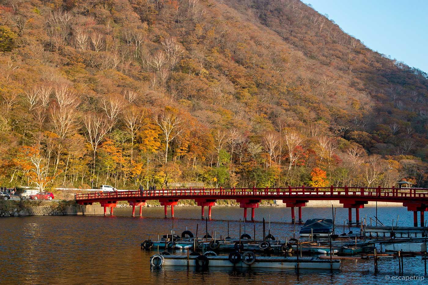 赤城山と橋