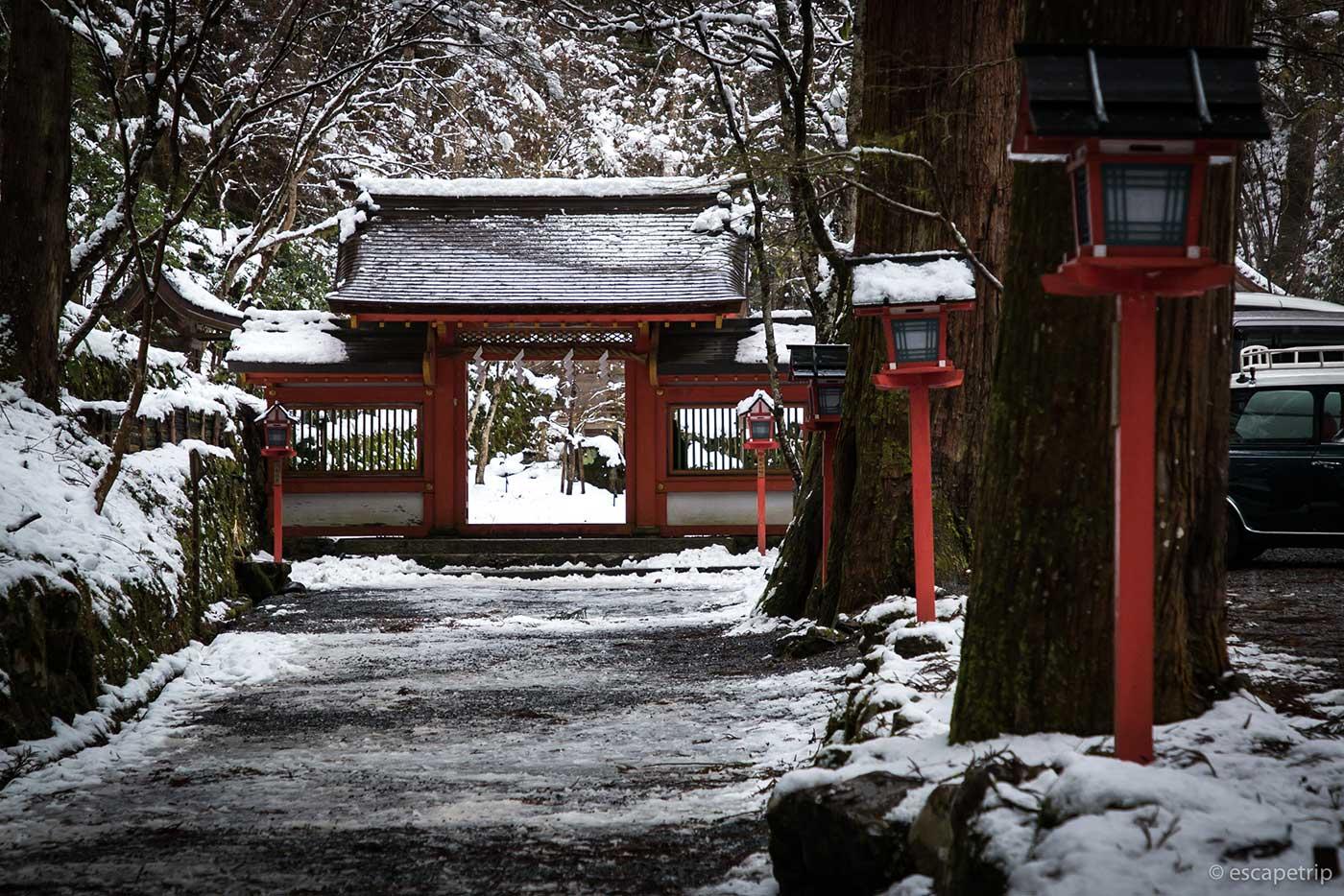 貴船神社の奥宮への道