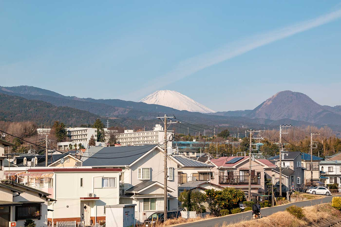 富士山がチラ見え