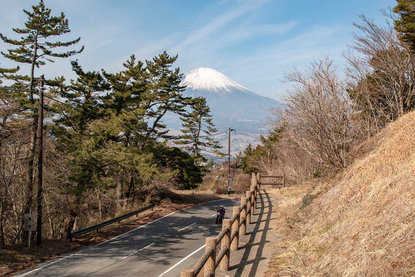 足柄峠から見る富士山