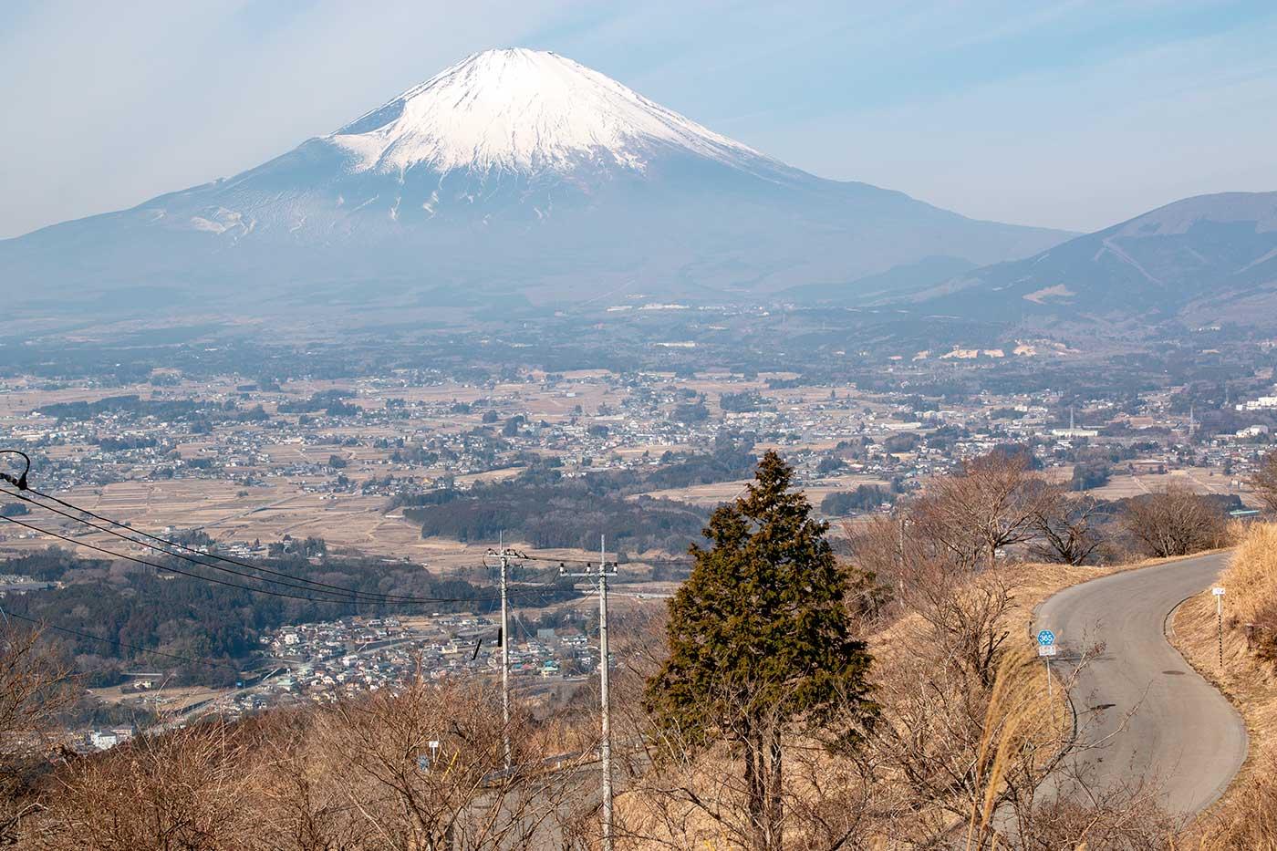 ワインディングロードと富士山