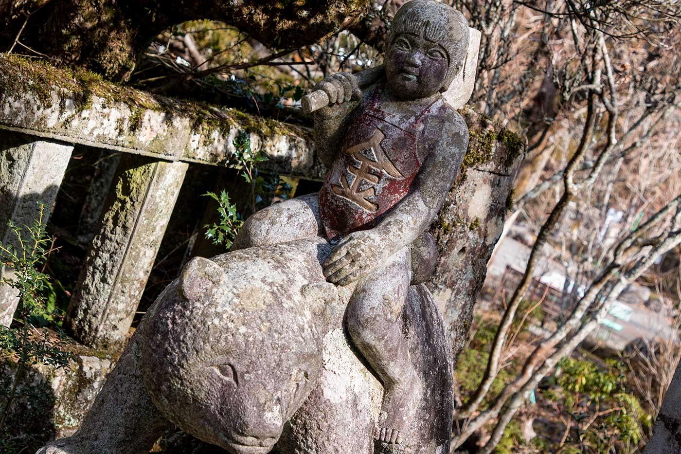 金太郎の石像