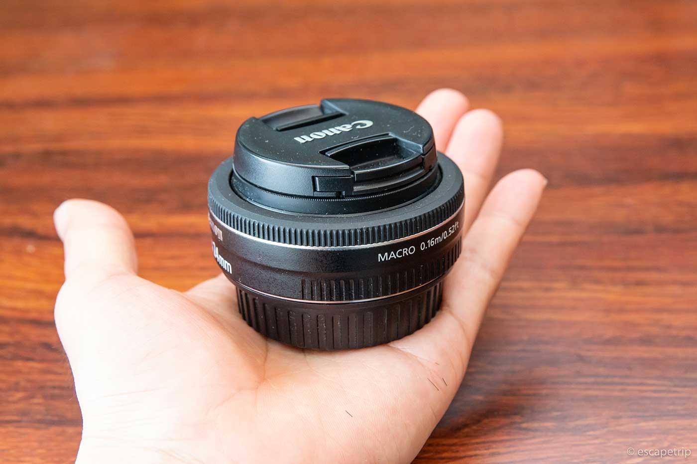EF-S24mm F2.8 STMのサイズ感