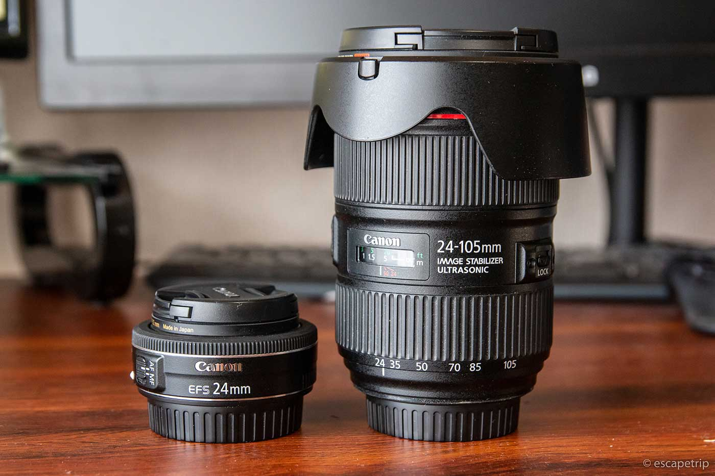 EF-S24mm F2.8 STMとEF24-105mm F4L IS II USMの比較